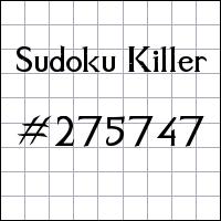 Sudoku Killer №275747