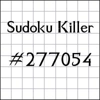 Sudoku Killer №277054