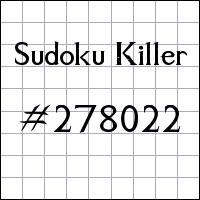 Sudoku Killer №278022