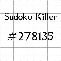 Sudoku Killer №278135