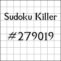 Sudoku Killer №279019