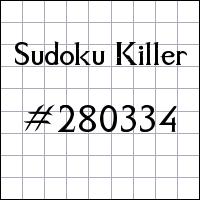 Sudoku Killer №280334