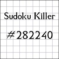 Sudoku Killer №282240