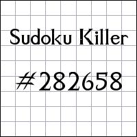 Sudoku Killer №282658