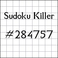 Sudoku Killer №284757