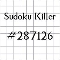 Sudoku Killer №287126
