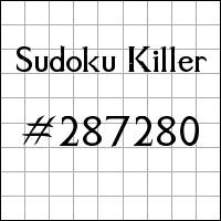 Sudoku Killer №287280