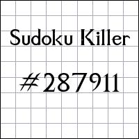Sudoku Killer №287911