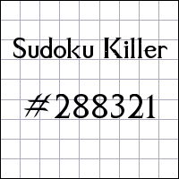 Sudoku Killer №288321