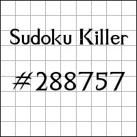 Sudoku Killer №288757