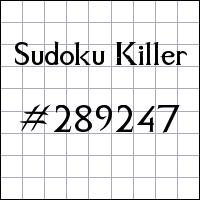 Sudoku Killer №289247