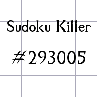 Sudoku Killer №293005