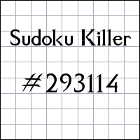 Sudoku Killer №293114