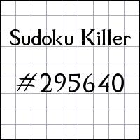 Sudoku Killer №295640