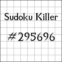 Sudoku Killer №295696