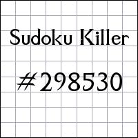 Sudoku Killer №298530