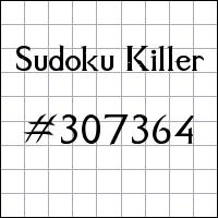 Sudoku Killer №307364