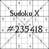 Sudoku X №235418