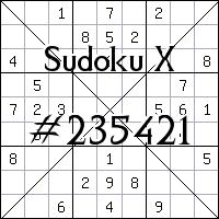 Sudoku X №235421