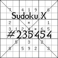 Sudoku X №235454