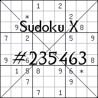 Sudoku X №235463