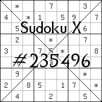 Sudoku X №235496
