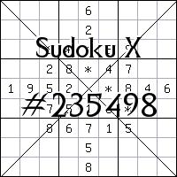 Sudoku X №235498