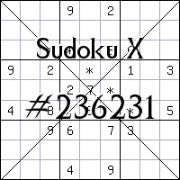 Sudoku X №236231