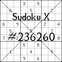 Sudoku X №236260