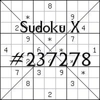 Sudoku X №237278