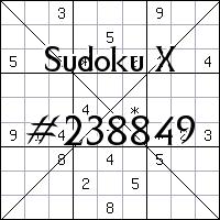 Sudoku X №238849