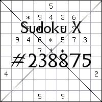 Sudoku X №238875