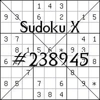 Sudoku X №238945