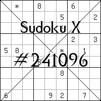 Sudoku X №241096