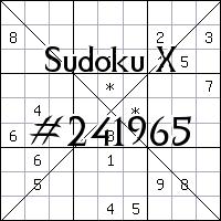 Sudoku X №241965