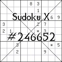 Sudoku X №246652