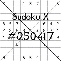 Sudoku X №250417