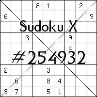 Sudoku X №254932
