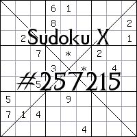Sudoku X №257215