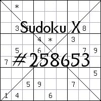 Sudoku X №258653