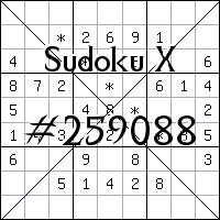 Sudoku X №259088
