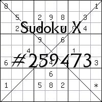 Sudoku X №259473