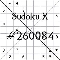 Sudoku X №260084