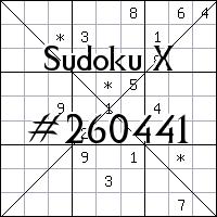 Sudoku X №260441