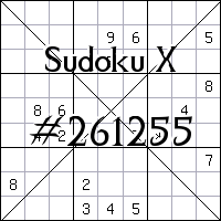 Sudoku X №261255