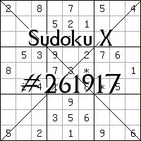 Sudoku X №261917