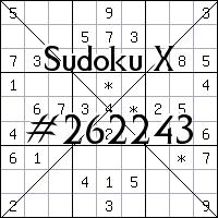 Sudoku X №262243