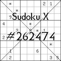 Sudoku X №262474