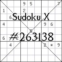 Sudoku X №263138