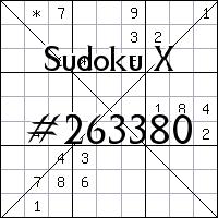 Sudoku X №263380